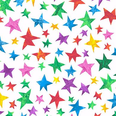 Picture of The Very Hungry Caterpilla Stars From Andover Fabrics by Eric Carle