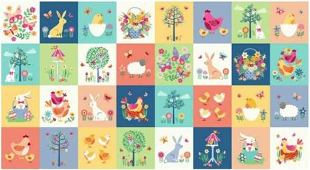 Picture of Makower fabric panel 100% cotton 2196 Spring Quilt