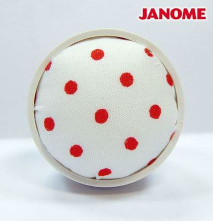 Picture of Janome White with Red Dot Pin Cushion