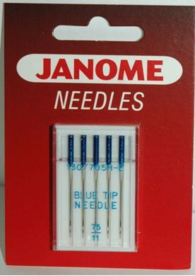 Picture of Janome Sewing Machine Blue Tip Needles - 75