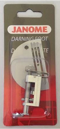 Picture of Janome 1600P or HD9 Free Motion Quilting Foot with darning Plate Heavy Duty