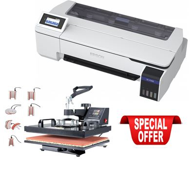 Picture of Epson F500 Bundle with 8x1 Heat Press