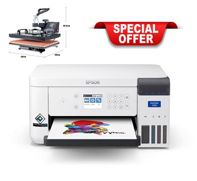 Picture of Epson F100 Bundle with 5 x 1 Heat Press