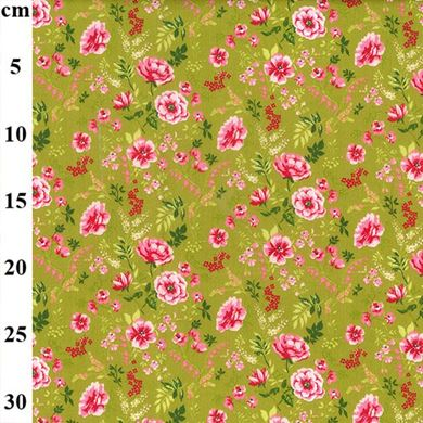 "Picture of Cotton Print 60"" wide Sweet Flowers"