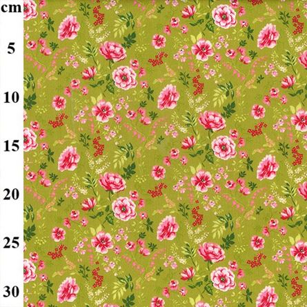 """Picture of Cotton Print 60"""" wide Sweet Flowers"""