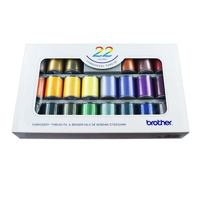 Picture of Brother Embroidery Thread Set 22 Colours
