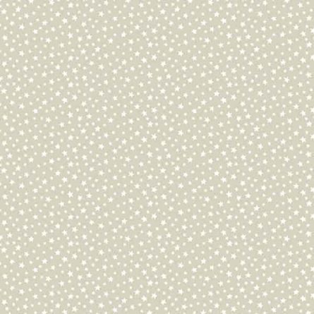Picture of Makower Essentials - Q7 306 - White-on-Oyster Stars