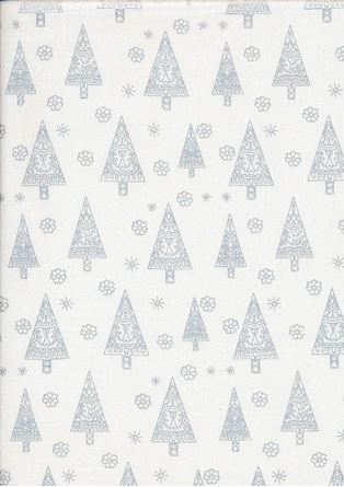 Picture of John Louden Christmas Collection - Gilded Nordic Trees White/Silver JLX0037