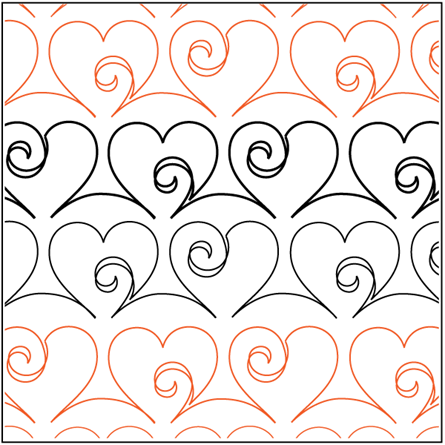 """Picture of Love Doodle - Sashing 3"""" wide pattern"""