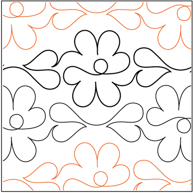 Picture of Daisy Chain 4.25 wide pattern double row