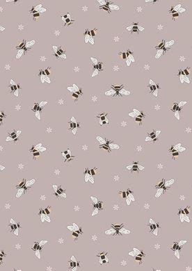 Picture of Lewis & Irene - Queen Bee A503.2 - Bees on warm beige