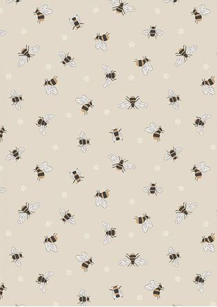 Picture of Lewis & Irene - Queen Bee A503.1 - Bees on dark cream