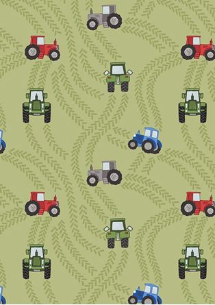 Picture of Lewis & Irene - Piggy Tales A533.1 tractor trails on green