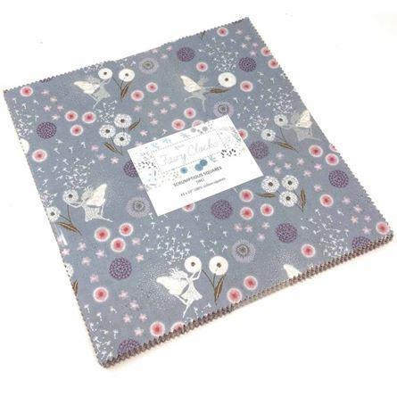 """Picture of Lewis & Irene Fairy Clocks Fabric Scrumptious 10"""" Squares"""